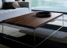 Reclaimed Wood And Chrome Coffee Table