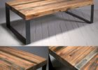 Reclaimed Wood Coffee Tables For Sale with Black Metal Legs