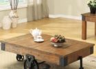 Reclaimed Wood Coffee Tables For Sale with Wheels