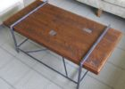 Reclaimed Wood Metal Frame Coffee Table With Wood Top Ideas