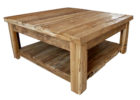 Reclaimed Wood Square Dark Wood Coffee Table