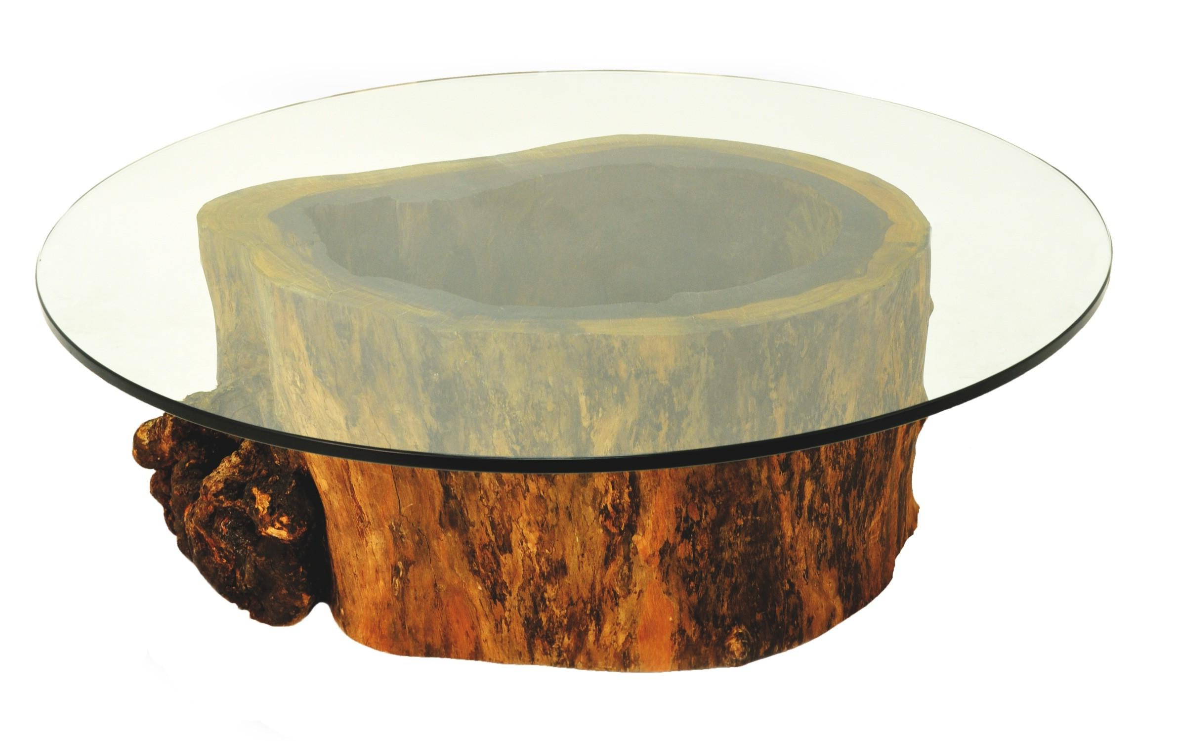 Round Glass Top Coffee Table With Wood Base Designs