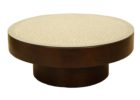 Round Glass Top Coffee Table With Wood Base Solid