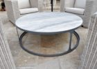 Round Metal Frame Coffee Table With Wood Top