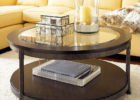 Round Metal Frame Coffee Table With Wood Top Frame