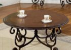 Round Metal Frame Coffee Table With Wood Top Solid