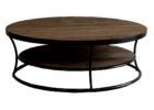 Round Reclaimed Wood Coffee Tables For Sale with Storage