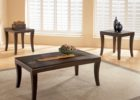 Square Dark Wood Coffee Table Furniture Set for Sale UK