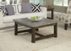Square Dark Wood Coffee Table UK Furniture Sets