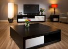 Square Dark Wood Coffee Table with Storages UK