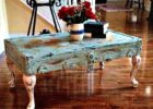 White Washed Dark Wood Trunk Coffee Table