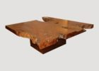 awesome wood slab coffee table for sale