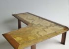 best L shaped coffee table wood