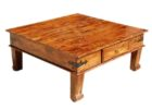 big square coffee table wood with drawer ideas