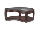 black L shaped coffee table wood glass top