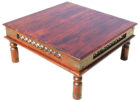 cheap big square coffee table wood