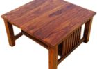 cheap big square coffee table wood with storage