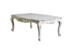 cheap distressed white wood coffee table