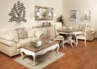 distressed white wood coffee table for sale