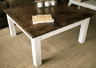 distressed white wood coffee table uk