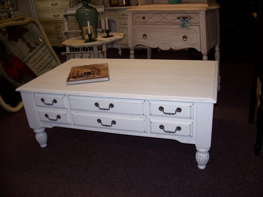 distressed white wood coffee table white with storages