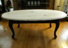 distressed white woodcoffee table oval top