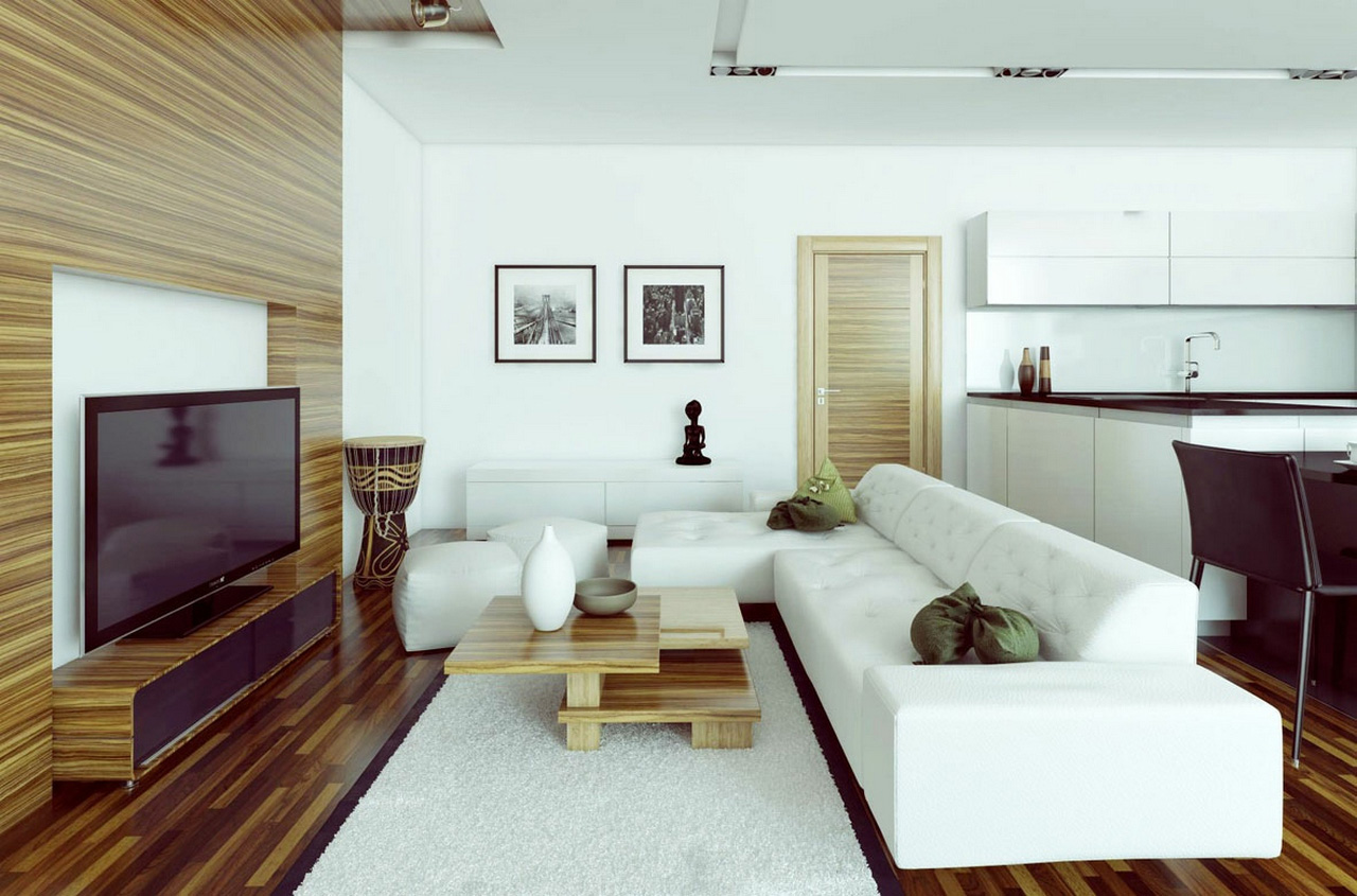 family room ideas-White-L-shaped-sofa-family room ideas with tv