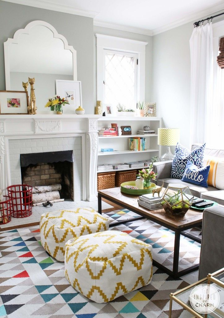 family room ideas-cheerful-summer-living-room-decor-ideas
