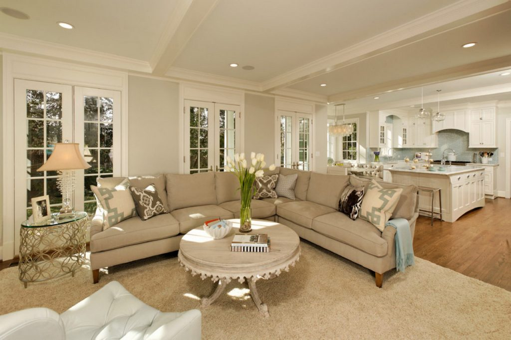family room ideas-living-room-transitional-green-house-renovation-transitional-awesome-decor-idea-round-table-shape