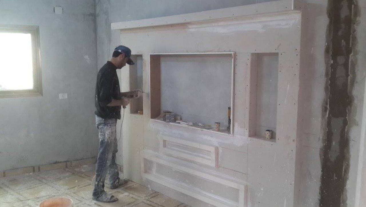 Gypsum Board Wall Installation For Wall Decoration   Raysa House