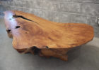 inexpensive wood slab coffee table for sale