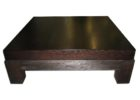 low black solid wood coffee tables for sale