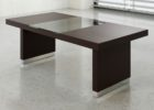 modern black wood coffee table with glass insert