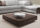 modern low square coffee table dark wood