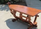 recycled boat wood coffee table