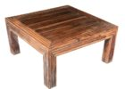 rustic big square coffee table wood