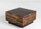 small square coffee table dark wood