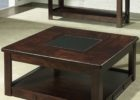 square coffee table dark wood black with storages