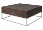 square coffee table dark wood solid top