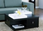 square coffee table dark wood with drawers