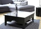 square coffee table dark wood with storages ideas
