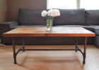 unfinished wood coffee table legs black