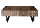 unfinished wood coffee table legs black metal