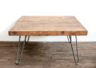 unfinished wood coffee table legs pin metal