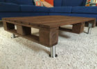 unfinished wood coffee table legs with pallet wood top