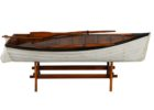 white boat wood coffee table book
