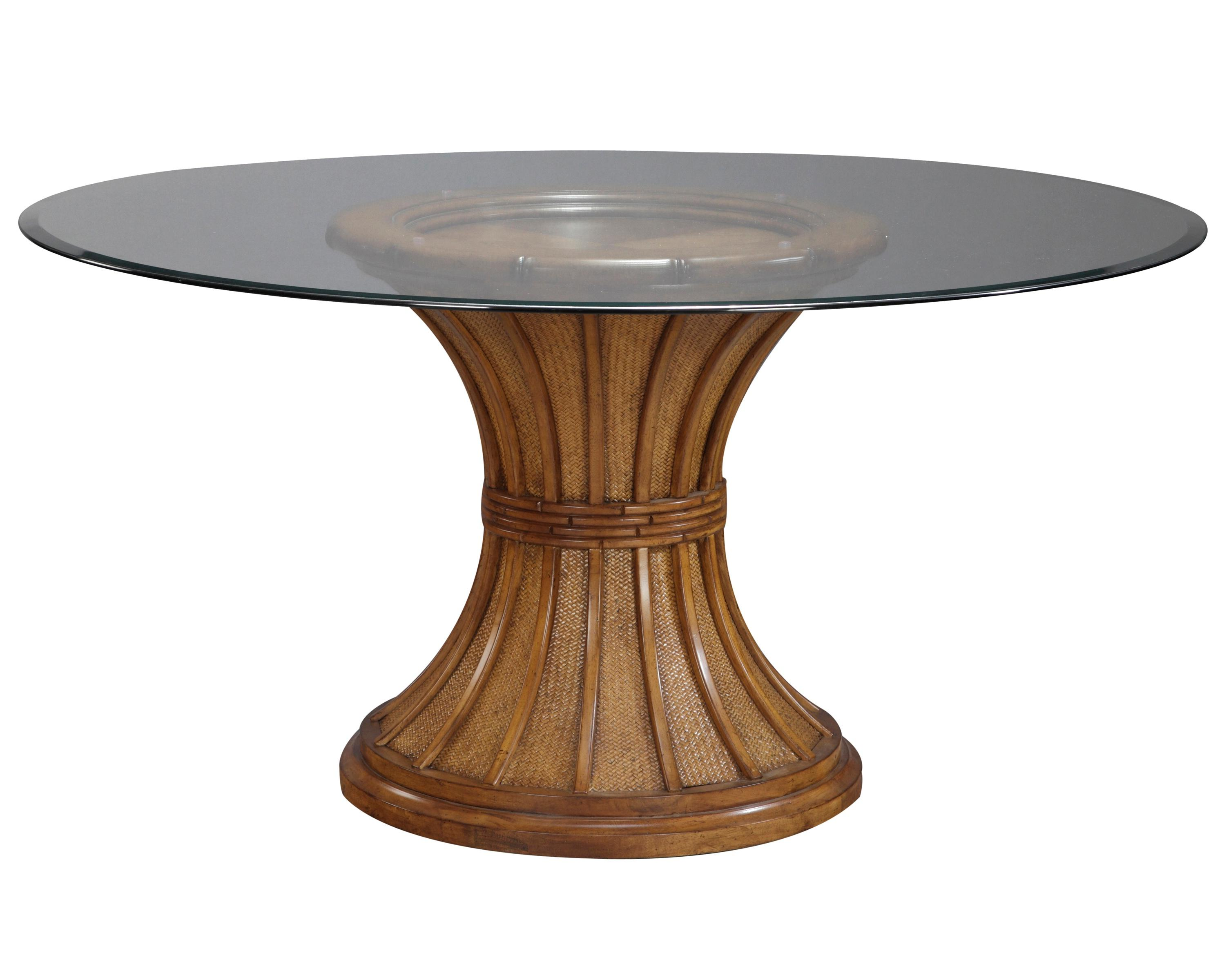 Wood Coffee Table Base Only For Black Round Glass Tops