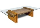 wood coffee table base only for glass tops