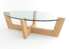 wood coffee table base only for oval glass tops