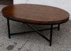 wood coffee table base only for oval wood